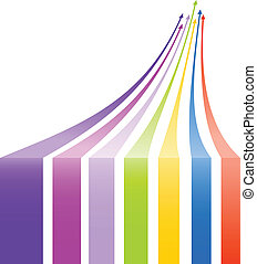 Multicolored arrows background. Vector illustration.