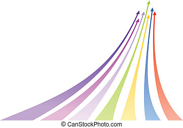 Multicolored arrows. Vector illustration