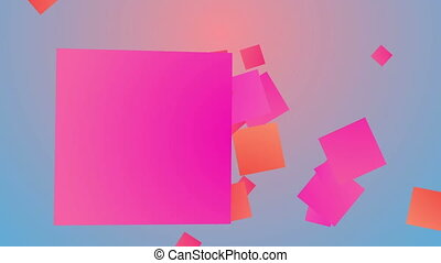 """""""Multicolored backdrop from flying squares"""""""