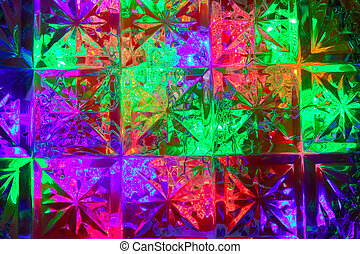 Multicolored background of squares and stars