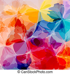 Multicolored background watercolor painting - Colorful...