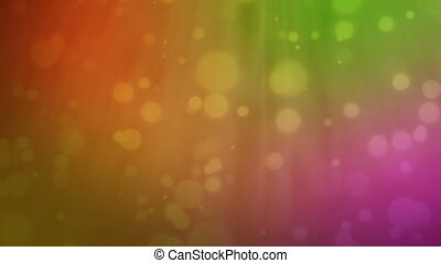 Multicolored background with floating particles
