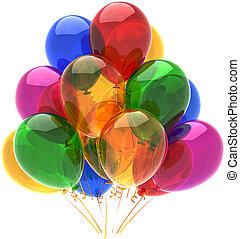 multicolored, balões, decoração