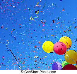 multicolored balloons and confetti #2