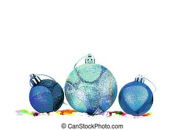 Multicolored balls on white background.