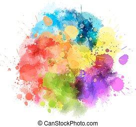Multicolored blot - Multicolored watercolor splash blot