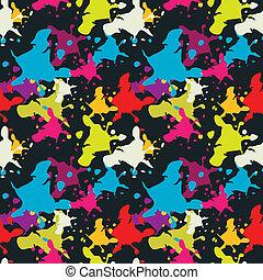 Multicolored blots
