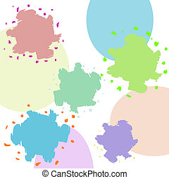 Multicolored blots on a abstract background