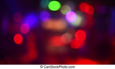 multicolored blurred abstract background with flashing bokeh