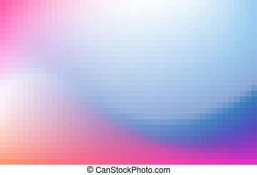 Multicolored blurred pixelated design background. Pink and blue gradient. Vector illustration.