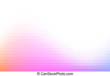 Multicolored blurred pixelated design background. Pink gradient wave. Vector illustration.