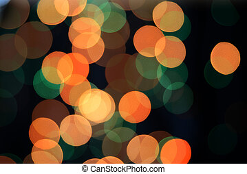 Multicolored bokeh
