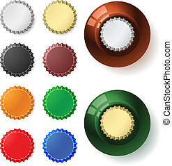 Multicolored bottle cap