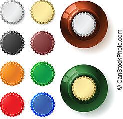 Multicolored  bottle cap