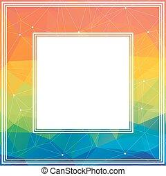 multicolored bright border