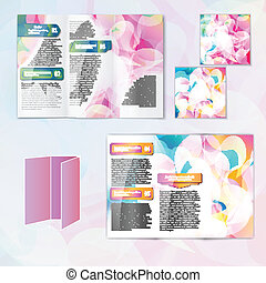 Multicolored brochure template
