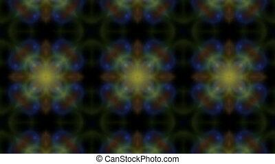 Multicolored bubbles on the black background