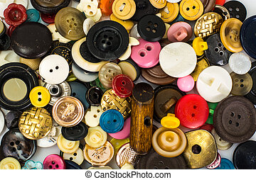 Multicolored buttons for clothes