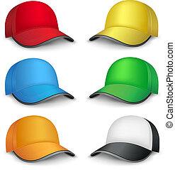 multicolored caps - The multicolored mesh empty template cap...