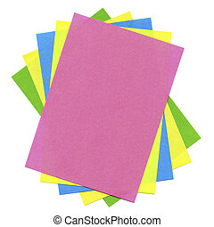Multicolored cards