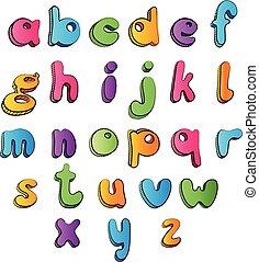 Multicolored cartoon ABC.