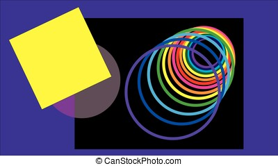 Multicolored circle stretching into infinity.