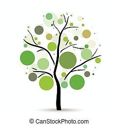 Multicolored circles tree