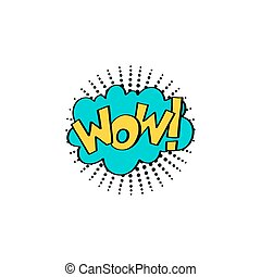 multicolored comic sound effects in pop art style, bubble...