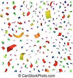 Holiday illustration of falling confetti