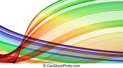 multicolored curves - abstract background. high quality render
