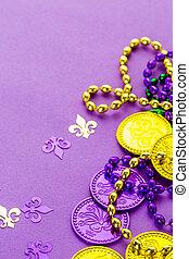 Mardi Gras - Multicolored decorations for Mardi Gras party ...