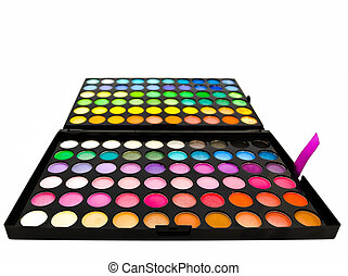 eye shadows - multicolored eye shadows against the white ...