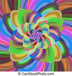 Multicolored floral fractal background art