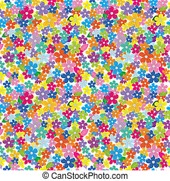 Multicolored floral seamless pattern