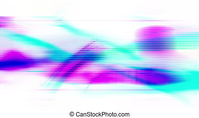 Multicolored flowing lines abstract animated loop background...