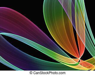 multicolored formation