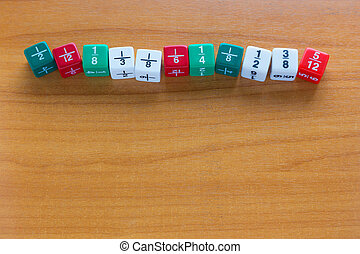 Multicolored Fracetion dices