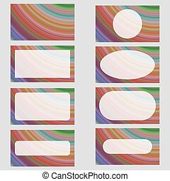 Multicolored fractal art business card design set