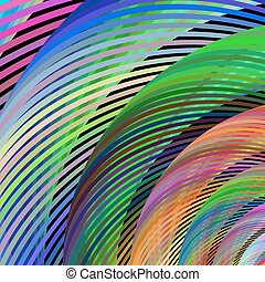 Multicolored fractal background design