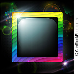 multicolored frame over glowing background