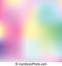 Multicolored frame with blur colored spots