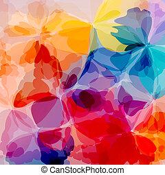 multicolored, fundo, pintura aquarela