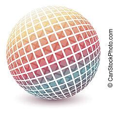 Multicolored globe.