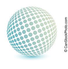 Multicolored globe vector. - 3d multicolored globe made of...
