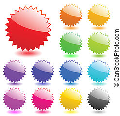 Multicolored glossy web elements. Perfect for adding text, icons. Vector aqua style. More in my gallery.