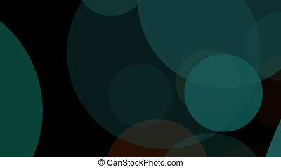 Multicolored Glowing Circles Abstract Motion...