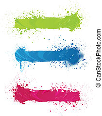 Multicolored grunge banners