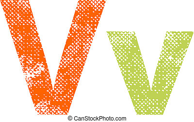 Multicolored grunge letters.