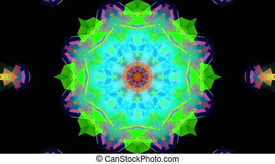Multicolored kaleidoscope background. abstract. 3d rendering...