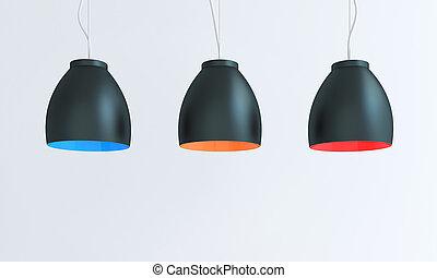 Multicolored lamp composition - Composition of multicolored...